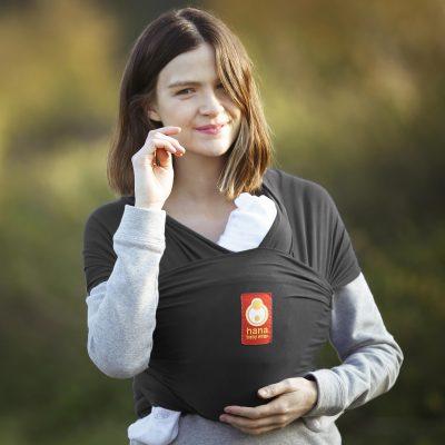 Hana Baby Wrap strækvikle koksgrå