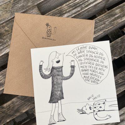 'Ja! Så MINE børn ...', Line Jensen Illu-kort