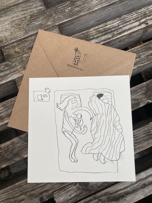 'Amning', Line Jensen Illu-kort