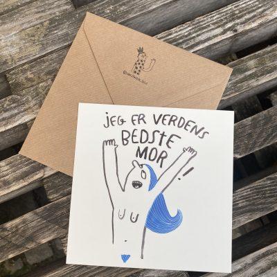 'Verdens bedste mor', Line Jensen Illu-kort