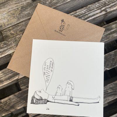 'Skal jeg op igen ...', Line Jensen Illu-kort