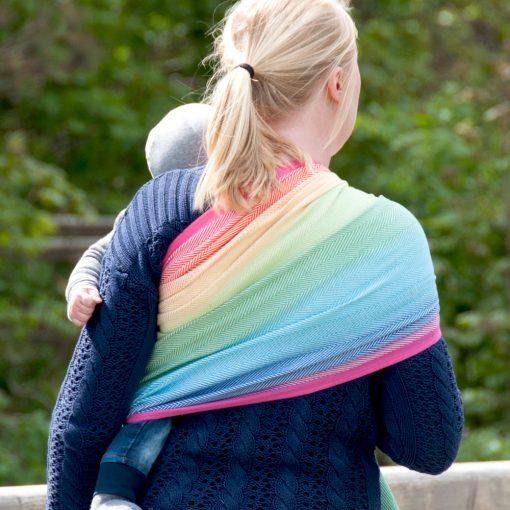Ringslynge Didymos Lisca White Rainbow